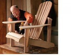 Adirondack Chair Plan: remember the quirky painted ones we'd see as we fished on the river in VA *memories*