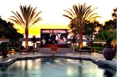 Movie by the pool anyone?