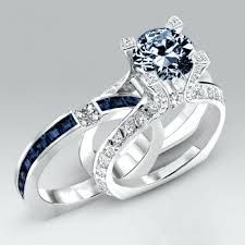 Image result for sapphire wedding ring sets