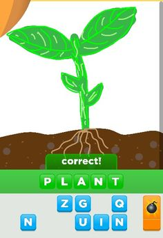Plants well a seedling in this case.... what would we do with out them!   Draw something app!