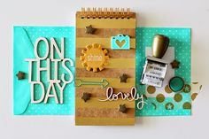 Color Crush Wednesday - turquoise, gold, and kraft