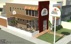 Resultado de imagen para fachadas restaurante de comidas rapidas