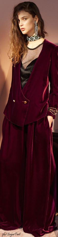 Lanvin Pre-Fall 2016 Velvet is one of the most fashionable fabric in Winter 2016 #MontorsiGiorgioModena