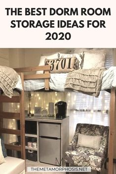 Want to bring all your favorite things to college but scared you'll overpack? Here are dorm room storage ideas to maximize your under bed space, closet space, and more. These dorm room storage hacks will help you fit everything you love in your dorm room. College Dorm Organization, College Dorm Essentials, College Tips, Freshman Tips, College Packing, College Survival, Freshman Year, Cozy Dorm Room, Dorm Room Storage