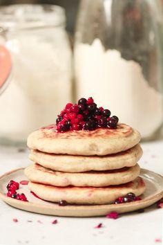Pancakes Sans Gluten, Vegan Pancakes, Sans Gluten Vegan, Gluten Free, Gateaux Vegan, Brunch, Vegan Desserts, Cheesecake, Food And Drink