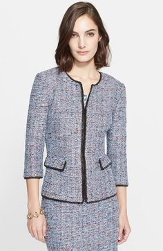 St. John Collection Confetti Tweed Knit Jacket available at #Nordstrom