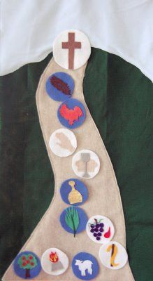 Road to Calvary banner to go with a devotional in the weeks leading up to Easter. Can be made of felt or just paper!