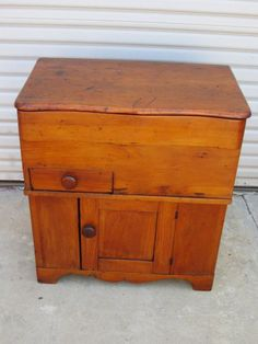 $450 American Antique Dough Bin Flower Cabinet Primitive Antique Furniture