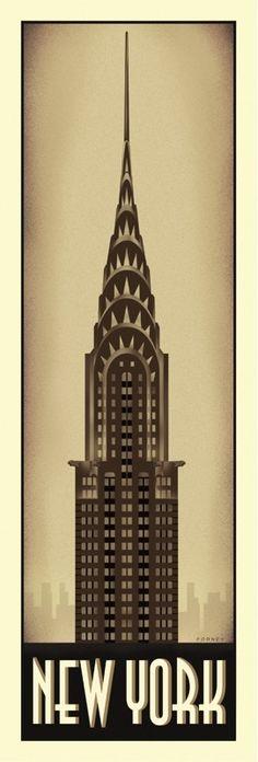 RETRO ART PRINT - New York by Steve Forney