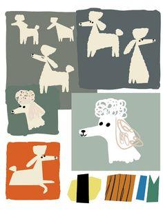 Seven Impossible Things Before Breakfast Graphic Design Layouts, Graphic Design Inspiration, Pet Branding, Christian Robinson, Animal Magic, Raining Cats And Dogs, Kids Calendar, Dog Illustration, Fukuoka