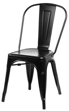 Krzesło Paris inspirowane Tolix - Sklep - Poznań Hotel Interiors, Sit Back And Relax, Chairs, Retro, Furniture, Black, Home Decor, Indigo, Rooms
