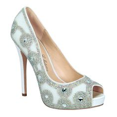 Eternity-102 by De Blossom Collection   #heels #glitter #rhinestones #highheels