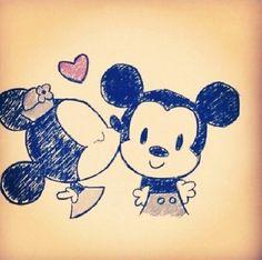 Minnie and Mickey ♡