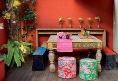 Using brasilian fabric and with creativity