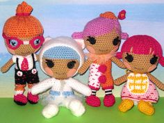 My crocheted Lalaloopsy Littles by ladynoir63, via Flickr