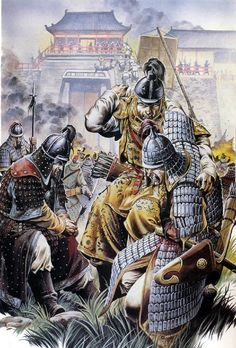 Chinese troops defending Kaifeng during the Mongol siege.: