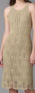 فستان كروشيه بالباترون - crochet dress pattern ~ شغل ابره NEEDLE CRAFTS