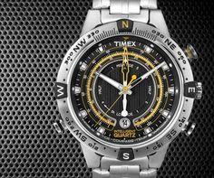 16334bb34700 Timex Intelligent Quartz IQ Tide Temp Compass Timex Steel Tide-Temperature- Compass Watch for men