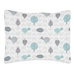 Earth and Sky Collection Standard Pillow Sham by Sweet Jojo Designs, Multi