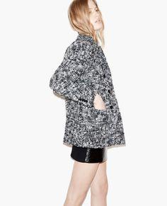 Caban en laine façon tweed - Femme - Nouvelle Collection - The Kooples