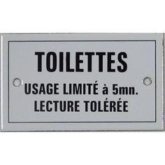 Plaque Toilettes usage limité en acier émaillé | Leroy Merlin