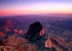 Guadalupe Mountains National Park. 8,749 foot Guadalupe Peak, the highest point in Texas.