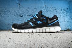 Nike Free Run+ 2 Black/Dark Grey-Black-Blue Hero