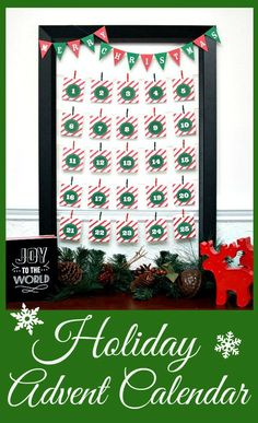 Holiday Advent Calendar + Printable