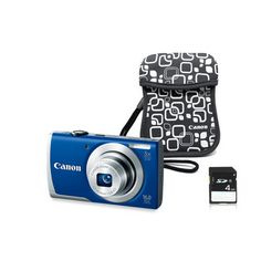 I'm a big fan of Canon cameras and have owned many PowerShots and their SLRs.  This is a sweet camera bundle for summer vacay.