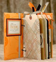 The Efficient Crafter: Envelope Punch Board Tag Booklet - mini album Mini Albums, Mini Scrapbook Albums, Scrapbook Cards, Envelope Maker, Envelope Book, Envelope Punch Board Projects, Tarjetas Diy, Handmade Books, Handmade Journals
