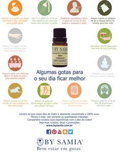 OE de Cedro. Conheça mais como utilizar. Se quiser, veja a imagem em maior resolução no link a seguir: http://www.bysamia.com.br/public/arquivos/pratica_aromaterapia/usos_oleos_cedro.pdf