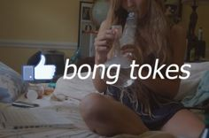 Thumbs Up Bong Tokes The Ganja Girls | Click to See It!!