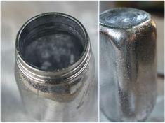 DIY Antiqued Mercury Mirror Glass using Krylon Looking Glass Paint for mirror? Looking Glass Paint, Krylon Looking Glass, Diy Centerpieces, Diy Wedding Decorations, Wedding Vases, Diy Arts And Crafts, Mercury Glass, Trendy Wedding, Mason Jars