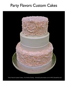 Wedding cake in blush pink buttercream