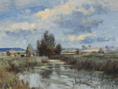 EDWARD SEAGO The Yare at Harford Bridge