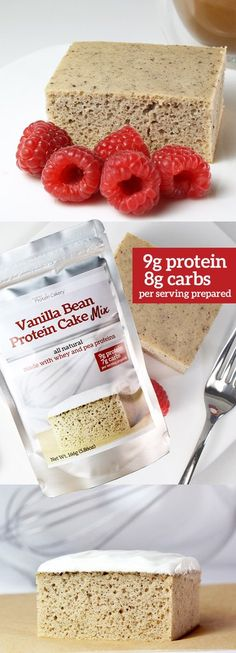 Imagine starting your day with a piece of delicious, aromatic vanilla bean cake. And imagine that cake having 18 grams of protein, 14 grams of carbs, and only 2 grams of sugar, with all natural ingred
