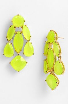 feel the buzz. #neon #earrings // kate spade