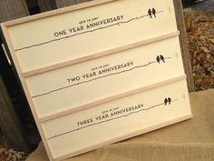 Newlywed Anniversary Gift, Wine Gift Box, Slide Wine Box, Engraved, Wedding Gift, Bridal Shower Gift, Engagement Gift