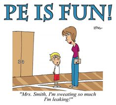 PE is Fun T-shirt with great cartoon from PE Central