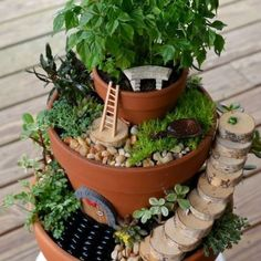 Make your own whimsical fairy garden with these creative DIY fairy garden ideas for inspiration. There are easy fairy garden ideas for containers, outdoors, and indoors. Fairy Tree Houses, Fairy Garden Houses, Gnome Garden, Beach Fairy Garden, Fairy Garden Furniture, Fairy Garden Accessories, Miniature Fairy Gardens, Garden Crafts, Cool Diy