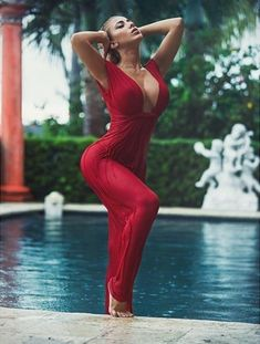 The minx in the wet red dress is Valeria Orsini (24 Photos) : theCHIVE