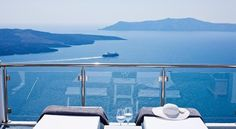 Asteras Villas in Fira, Greece: Situated high above the Aegean Sea, it clings to the steep cliffside of Fira, the island capital of Santorini. Amazing Destinations, Holiday Destinations, Beautiful Hotels, Beautiful Places, Most Luxurious Hotels, Luxury Hotels, Beach Please, Greece Holiday, Holiday Accommodation