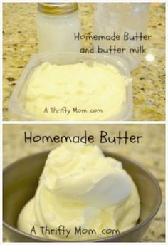 Homemade Butter - A Thrifty Mom - Recipes, Crafts, DIY and more