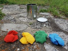 Spring time is a good time to fix things, maybe paint the house or a garden fence. Here is a game to get painters of all ages into gear: Practice tossing some paint drops! Paint Drop, Paint Buckets, Toss Game, Welcome Spring, Garden Fencing, Loom Weaving, Loom Knitting, Tossed, Hand Warmers