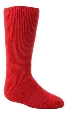 Kids Thermal Socks : Heat Holders Kids Long Length Thermal Socks - [Pillar Box Red]