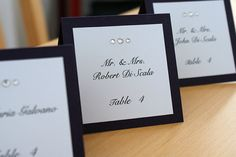 Custom Tentfold Placecards by TakeNoteCreations on Etsy, $1.75