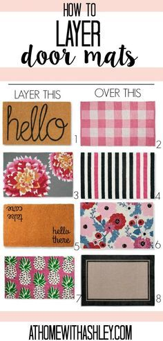 small front porch decorating ideas Guide to layering rugs and door mats! Front porch decor ideas for a small area. Create curb appeal with a simple trick, layer rugs under your doormat. Some fun picks to achieve the layered doormat look! Front Door Rugs, Front Door Decor, Front Doors, Outdoor Couch, Outdoor Rugs, Outdoor Decor, Outdoor Ideas, Small Front Porches, Small Patio