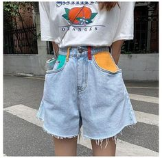 Retro Outfits, Cool Outfits, Vintage Outfits, Summer Outfits, Casual Outfits, Artsy Outfits, Diy Clothes Vintage, Blue Skirt Outfits, Teen Fashion