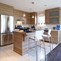Des armoires de mélamine comme du bois - Cuisine - Inspirations - Décoration et rénovation - Pratico Pratique