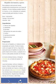 Hojaldre de tomate y queso de cabra
